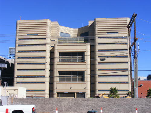 Back View of Clark County Jail