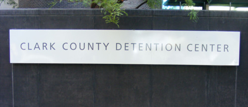 Front Entrance Sign at the Clark County Detention Center