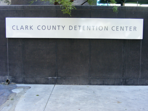 Front Entrance Sign Clark County Detention Center