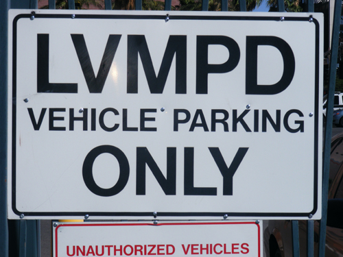 LVMPD Vehicle Parking Only - City of Las Vegas Detention Center