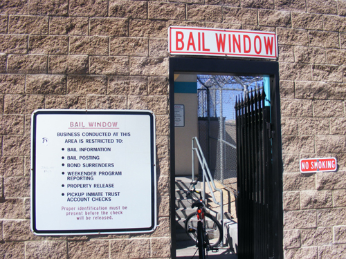 Bail Window at Las Vegas City Jail